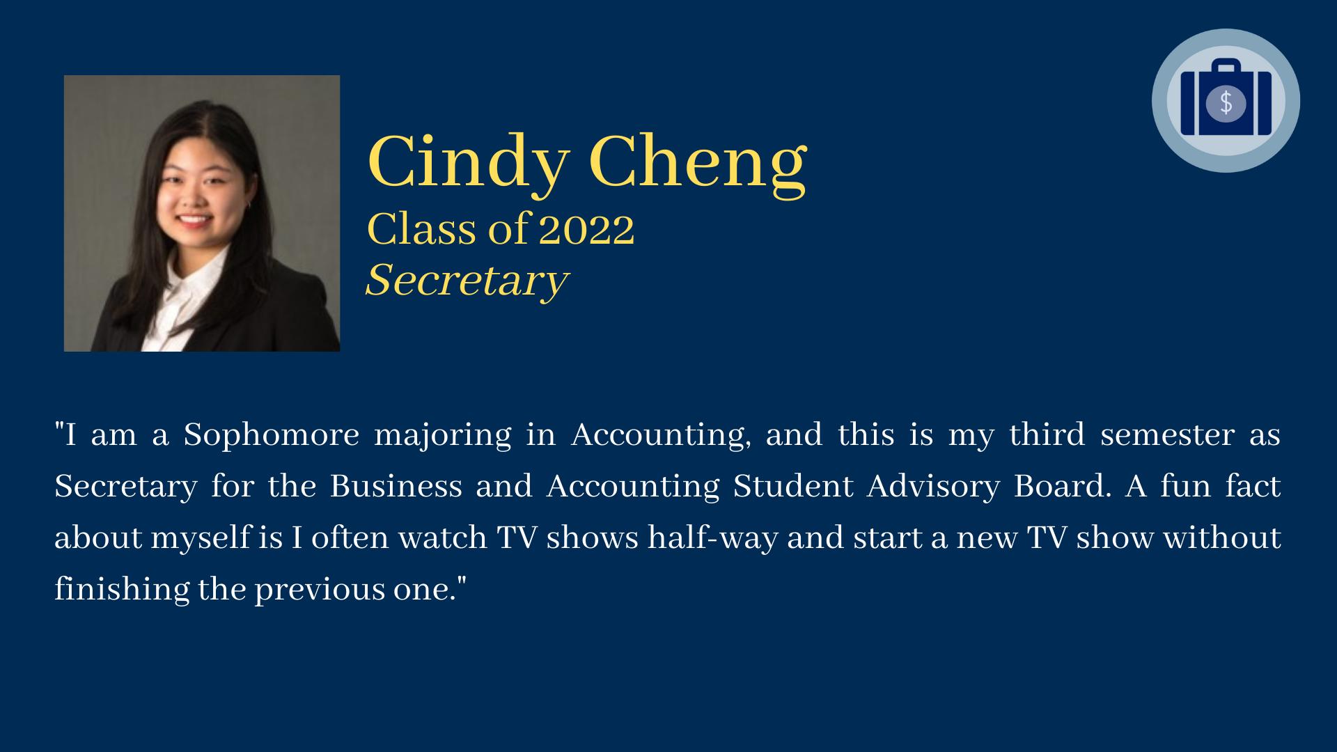 Cindy Cheng bio