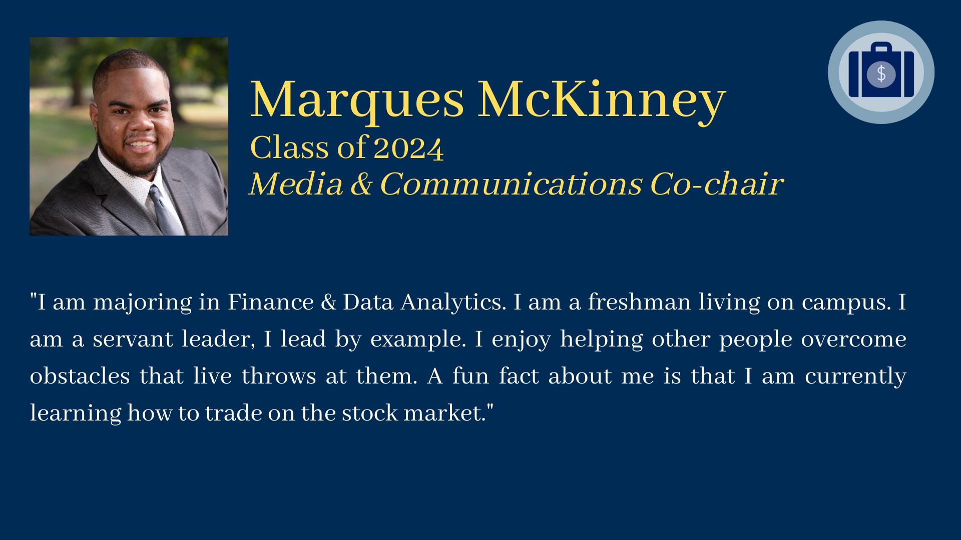 Marques McKinney bio