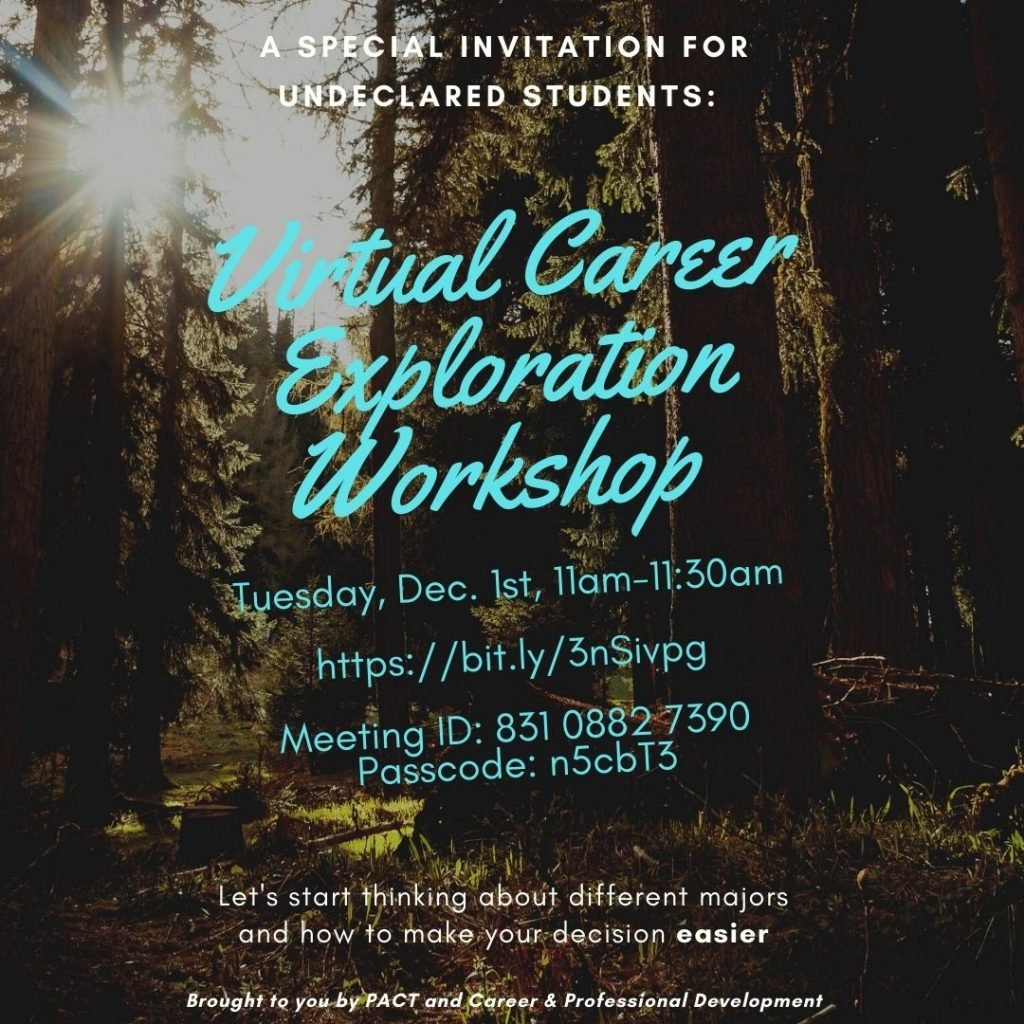 Career Exploration Workshop flyer