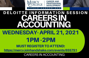 Deloitte Virtual INFO Session: CAREERS IN ACCOUNTING for ALL Majors