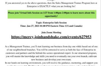 Enterprise Recruitment Session