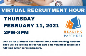 Reading Partners Virtual Recruitment Hour