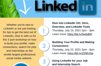 Dive into LinkedIn: Using LinkedIn for your Job and Internship Search