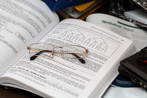 book studying glasses student