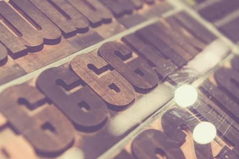wooden letters art