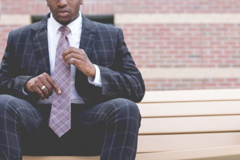 African American man in suit and tie professional attire business
