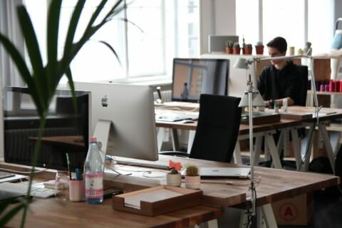 modern open office workplace