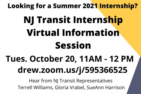 Nj Transit internship flyer