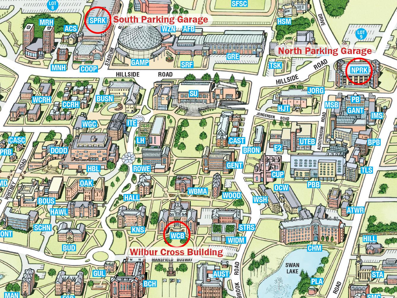 uconn west hartford campus map Directions And Parking Info Uconn Center For Career Development