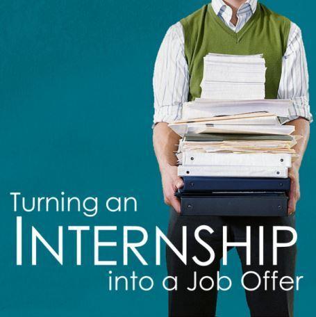 Tips for turning your internship into a job offer uconn - Uconn center for career development ...
