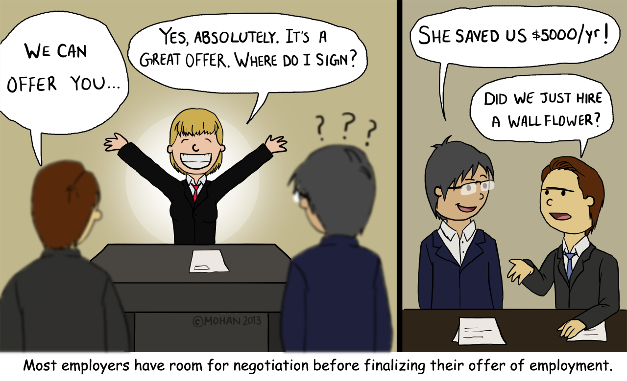 negotiating a salary offer