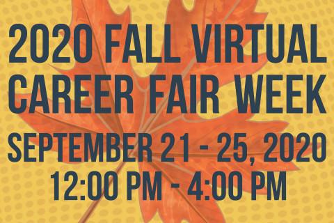 Fall Virtual Career Fairs