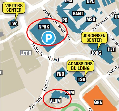 Alumni Center map