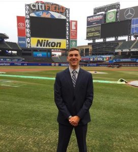 Aaron Ryley at Citi Field, home of the New York Mets