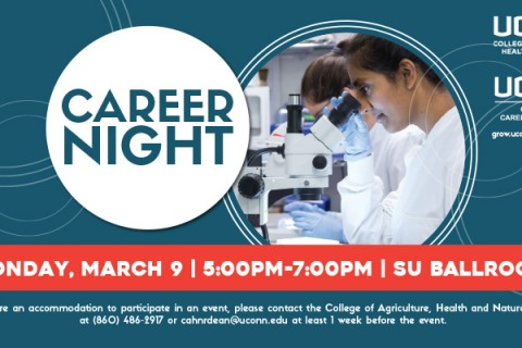 CAHNR Career Night - Monday, March 9, 2020