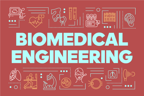 Abstract biomedical engineering concept.