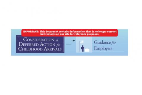 Employer Fact Sheet on DACA