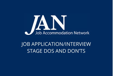 JAN: Job Application/Interview Stage Dos and Don'ts