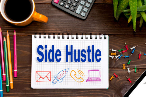 Side Hustle concept drawing