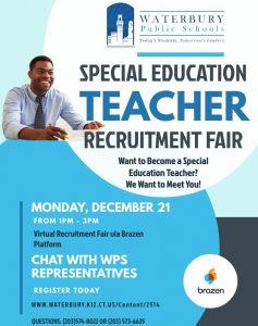 Special Education Teacher Recruitment Fair Flyer