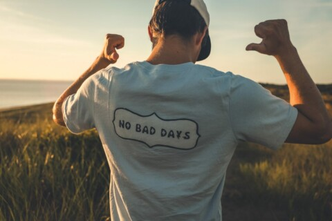 UConn junior Jack Tarca '22 (BUS), creator of the No Bad Days lifestyle website and clothing line.