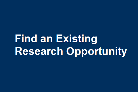 Find an Existing Research Opportunity