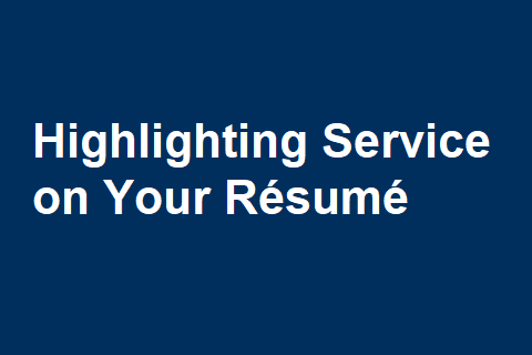 Highlighting Service on Your Résumé – Careers for the Common Good
