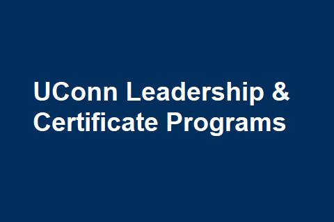 UConn Leadership & Certificate Programs