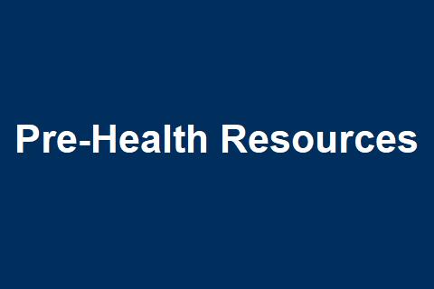 Pre-Health Resources