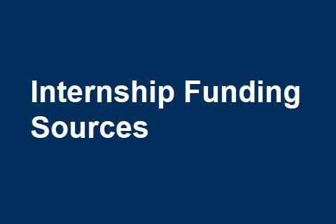 Internship Funding Sources