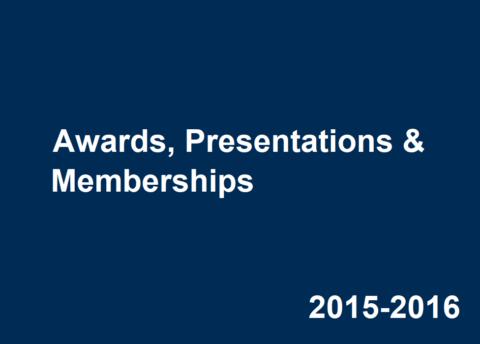 2015-2016 Career Center Awards, Presentations & Memberships