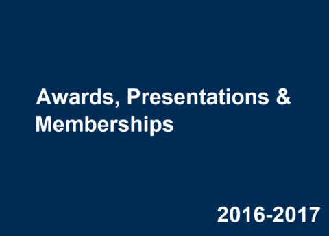 2016-2017 Career Center Awards, Presentations & Memberships