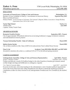 Resume For Law School Career Services University Of Pennsylvania