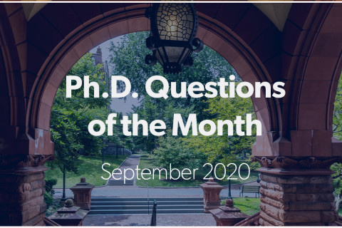PhD Questions of the Month 0920