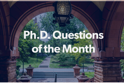PhD Questions of the Month
