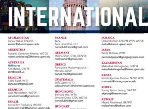 A sample of the different international Penn alumni clubs