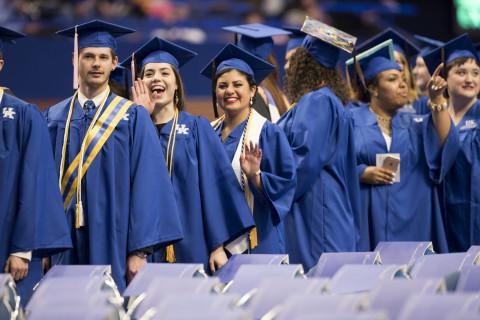 UK graduation on Friday May 5, 2017. Photo by Mark Cornelison | UKphoto