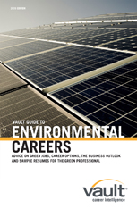 Vault Guide to Environmental Careers