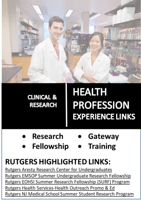 Clinical & Research Health Related Experience Links