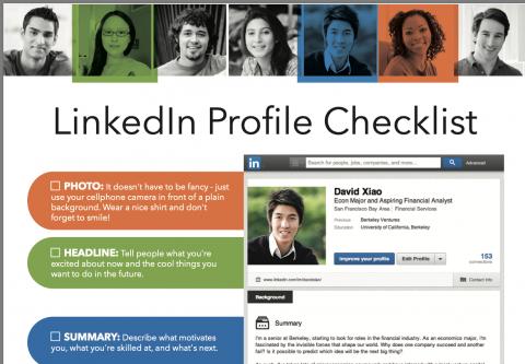 LinkedIn Student Profile Checklist