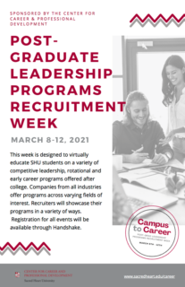 Post-Graduate Leadership Programs Recruitment Week (2)