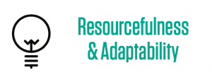 resourcefulness, adaptability, skill