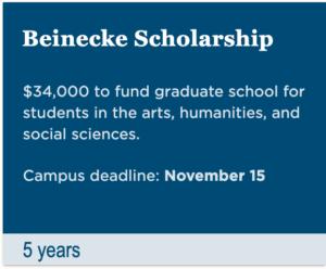 Beinecke Scholarship